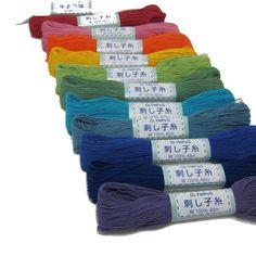 Abigarrado japonés Sashiko algodón hilo de rosca  por snugglymonkey