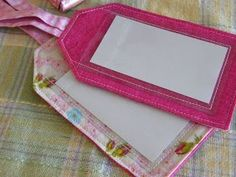Luggage tag tutorial. This one is the easiest I've seen and worked well for me before. (With the exception of sewing on the vinyl - what a beast!)