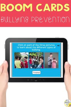 """This Bullying Prevention digital lesson is a great way to help students learn how to identify and prevent bullying. Students will be able to define bullying behavior and different types of bullying. They will also learn how to be an """"upstander"""" and the differences between bullying and being mean. #brightfuturescounseling #elementaryschoolcounseling #schoolcounseling #middleschoolcounselor #middleschoolcounseling #distancelearning #boomcards #bullyingprevention Elementary School Counselor, School Counseling, Elementary Schools, Different Types Of Bullying, Social Emotional Learning, Social Skills, Bullying Prevention, Guidance Lessons, Character Education"""