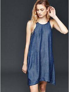Chambray swing dress | Gap