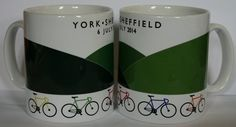 The Yorkshire Stages cycling mug - York to Sheffield The second stage of the 2014 Tour de France on 6 July, talking in the famous Holme Moss climb en route., £6.50