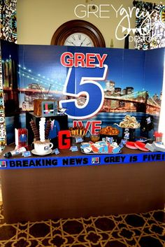New anchor themed birthday party. So original! GreyGrey Designs: {My Parties} Greysons LIVE at FIVE Anchorman Party