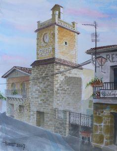 Torre del reloj en Navalagamella (Madrid)