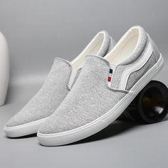 Men Slip-On Sneaker Mens Slip On Sneakers, Best Sneakers, Mens Casual Leather Shoes, Casual Shoes, Polo Shoes, Men's Shoes, Fashion Shoes, Mens Fashion, Stylish Boots