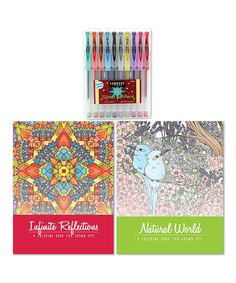 Loving this Coloring Books & Glitter Pens Set on #zulily! #zulilyfinds