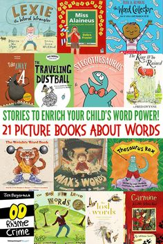 21 fabulous picture books about words! Enrich your child's vocabulary and word knowledge with this fun collection of stories suitable for children of all ages. Learning Games For Kids, Educational Toys For Kids, Toddler Books, Childrens Books, Baby Books, Pre-school Books, Kids Bookcase, Big Words, Word Play