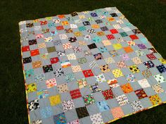 Twin Sized I-Spy Quilt Idea; Using Charms i-spy; Picnic Blanket, Outdoor Blanket, I Spy Quilt, Three Little, Crafty Kids, Baby Quilts, Robot, Rainbow, Colours