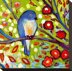 Picture Perfect International Bird Quadrant III by Jennifer Lommers Giclee Stretched Canvas Wall Art 24 x 24 x 1