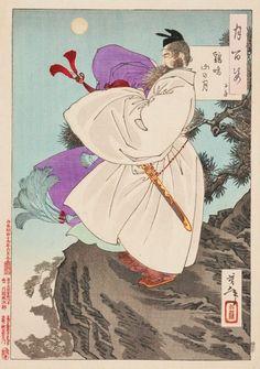 An image of Mount Ji Ming moon - Zi Fang by Tsukioka YOSHITOSHI
