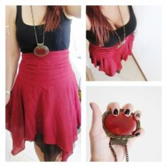#skirt #agata #gonna #gitana #red #Ilovered #red #necklace #jewelry #outfit #ootd #fashion #style #me #dress #clothes #nail #blacknails
