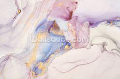 Pink and Gold Swirl Wallpaper | Wallsauce US Forest Wallpaper, Pastel Wallpaper, Wall Wallpaper, Peel And Stick Wallpaper, Pastel Clouds, Pastel Walls, Wall Murals, Wall Art, Pastel Designs