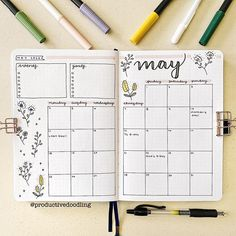 Mandy Mair | Bullet Journal sur Instagram: happy may 1st !!💐 praying that this month brings peace and happiness!! • what are your goals for this new month?