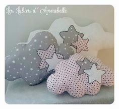 Almofadas patchwork feltro Ideas for 2019 Cute Pillows, Baby Pillows, Throw Pillows, Baby Crafts, Diy And Crafts, Sewing Crafts, Sewing Projects, Cloud Pillow, Baby Mobile