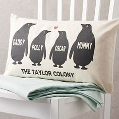 Personalised Penguin Family Cushion - shop by occasion