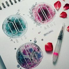 "15.9 mil curtidas, 265 comentários - BTS FANART (@bts_art_) no Instagram: ""new BTS logos ✨ - DO NOT COPY, REPOST, USE WITHOUT PERMISSION - Inspired by @_.gabjoon._ - #bts…"""