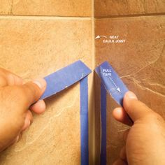 Great idea!  using painters tape for caulking.