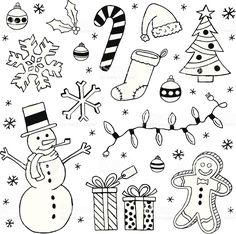 Black and white Christmas clip art images royalty free stockvectorbeelden