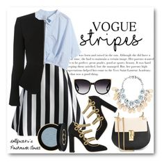 """""""✦Bold Stripes//Vogue Stripes✦"""" by stacypark86 ❤ liked on Polyvore featuring Chicwish, Chicnova Fashion, Dolce&Gabbana, Alexander Wang, Chloé, Mawi, Gucci, Barton Perreira and BoldStripes"""