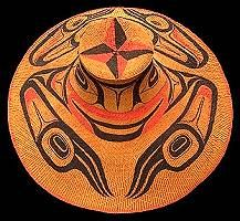 Haida Basket Hat worn by Northwest Coast tribes. Made from fibers such as cedar bark or spruce root.