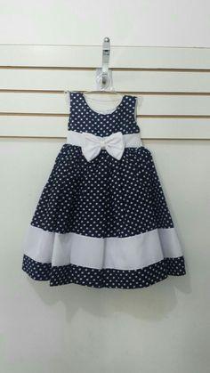 Vestido Frocks For Girls, Kids Frocks, Little Dresses, Little Girl Dresses, Cute Dresses, Girls Dresses, 50s Dresses, Elegant Dresses, Girls Frock Design