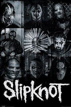 Poster SLIPKNOT - Masks - http://rockagogo.com
