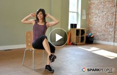 Sneaky thigh exercises you can do from a chair (sneak them in throughout your workday!) | via @SparkPeople