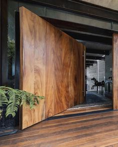 Natural details ✳️How would you describe this place with one word ?, Natural details ✳️How would you describe this place with one word ? Let us know below Maniacs‼️ _________ ✏️ Design by Pez Arquitectura 📷 Photo by And. House Entrance, Entrance Doors, Doorway, Architecture Design, Loft Interior, Modern Interior, Design Exterior, Modern House Design, House Door Design
