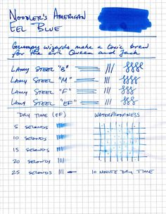 Ink Review: American Eel Blue by Noodler's — Gorgeous.Ink