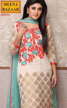 Embroidered Suit on Chanderi Fabric