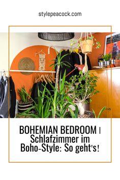 BOHEMIAN BEDROOM | GEMÜTLICHES SCHLAFZIMMER: SO GEHT'S! | Stylepeacock | Happy Boho Interior & Lifestyle Bohemian Bedroom, der Trend fürs Schlafzimmer. Gemütlichkeit & Boho Style für dein Schlafzimmer mit Boho-Flair. Tolle Inspirationen rund um Wandfarben, Bett, Möbel und Pflanzen im Schlafzimmer. Gestalte deine Wand mit Boho-Elementen. [beinhaltet unbezahlte werbung & affiliate links]#schlafzimmer #bedroom #bohemianbedroom #bohostyle #wandstreichen #DIYbedroom #bohobedroom Boho Fashion, Lettering, Bedroom, Plants, House, Home Decor, Vintage, Style, Bedroom Plants