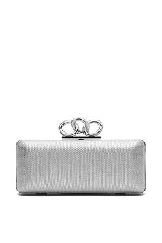 DVF | This elegant evening clutch with our signature Sutra chain hardware shines in metallic canvas.  http://on.dvf.com/198b4P6