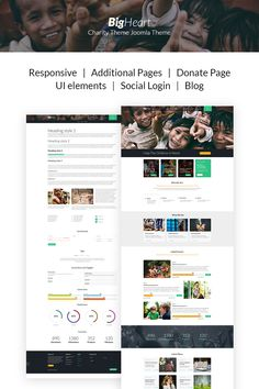 BigHeart - Child Charity Joomla Template #67267