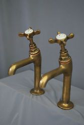 Don't Forget the Bathroom When Home Decorating Utility Sink Taps, Belfast Sink With Taps, Brass Tap, Solid Brass, Kitchen Sink Taps, Old Sink, Downstairs Toilet, Georgian Homes