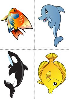п Sea Animals Drawings, Cartoon Sea Animals, Cartoon Fish, Fish Clipart, Fish Quilt, Mermaid Under The Sea, Fun Math, Maths, Sea Theme