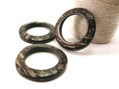 Coconut Dark Brown Ring Link Disks