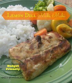 Lemon Dill Mahi Mahi Recipe4 Mahi Mahi Fillets Extra Virgin Olive Oil Salt Garlic Powder Dill Weed Lemon Pepper Paprika 2 Tbsp Butter; divided ½ cup chicken broth 1 ½ Tbsp Lemon Juice