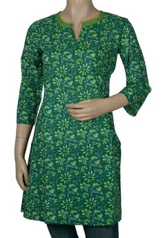 Long Cotton Indian Kurta Blouse with Hand Block Print Work Size 3XL: Amazon.com: Clothing