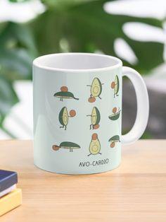 """Avo-cardio"" Mug by Milkyprint | Redbubble Canvas Prints, Art Prints, Cardio, Ceramics, Mugs, Tableware, Art Impressions, Ceramica, Pottery"