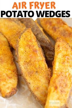 These Copycat KFC Potato Wedges are made in the Air Fryer! They are perfectly seasoned and the perfect side dish to your favorite meal. I've provided full step by step instructions so you can make a healthier version of these copycat KFC fries. Air Fryer Recipes Snacks, Air Fryer Recipes Low Carb, Air Frier Recipes, Air Fryer Recipes Breakfast, Air Fryer Dinner Recipes, Air Fryer Recipes Potatoes, Kfc Potato Wedges, Homemade Potato Wedges, Chocolate Chip Cookies
