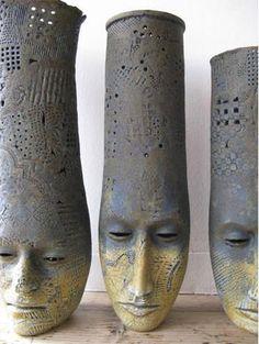 "Alasdair Neil MacDonell (more ceramic art in my board ""ceramic & porcelain art"") contemporary sculpture Ceramic Clay, Ceramic Pottery, Pottery Art, Ceramic Planters, Sculptures Céramiques, Sculpture Art, Ceramic Figures, Pottery Sculpture, Kintsugi"