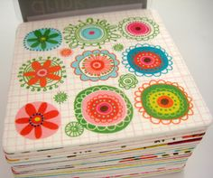 Carolyn Gavin design - drinkblots art coasters by studio m http://www.magnetworks.com/index.aspx #doodles #patterns