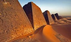 Pyramids built by the Meroe Peoples of Sudan.