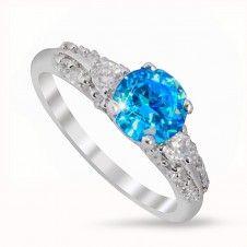 Inel argint 925 placat cu Rodiu piatra semipretioasa Topaz si cristale Topaz, Engagement Rings, Jewelry, Fashion, Enagement Rings, Moda, Wedding Rings, Jewlery, Jewerly