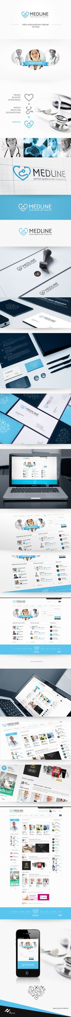 Medical UI with more class than half the Internet !?!  Medline by Milena Włodarczyk, via #Behance #Design #Branding