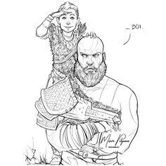 BOI. #GodofWar #Kratos #Atreus #fanart #sketch #digitalart