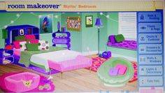 (My scene) this was ur dream bedroom when u were little (2000's kid!) OMG used to play this game alot(: