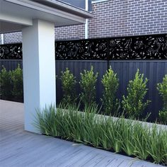 Gorgeous Smart Backyard Fence And Garden Design Ideas For Your Garden. Privacy Fence Designs, Pergola Designs, Backyard Privacy, Backyard Fences, Backyard Plants, Landscape Design, Garden Design, Fence Screening, Small Courtyards