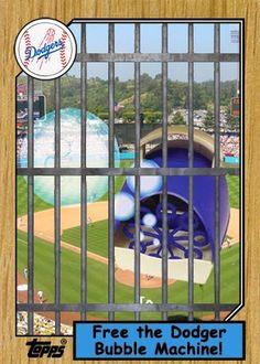 Dodgers Blue Heaven: Free the Dodger Bubble Machine!