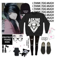"""""""kawaii emo"""" by emokittyyy ❤ liked on Polyvore featuring River Island, JFR, Vans and Zara"""