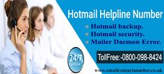 Rather for technical help user can reach out to the experts over. You contact Contact hotmail customer service number 0800-098-8424 at any time to get the solution of your problem.